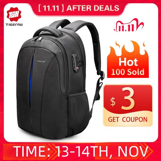 Tigernu Brand Backpacks Male Student College School Bags Waterproof  Backpacks Men Women Rucksack Mochila Laptop Bag Backpack