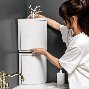 Image 2 - MICCK New Plastic 360 Rotating Bathroom Kitchen Storage Rack Organizer Shower Shelf Kitchen Tray Holder Washing Shower Organizer