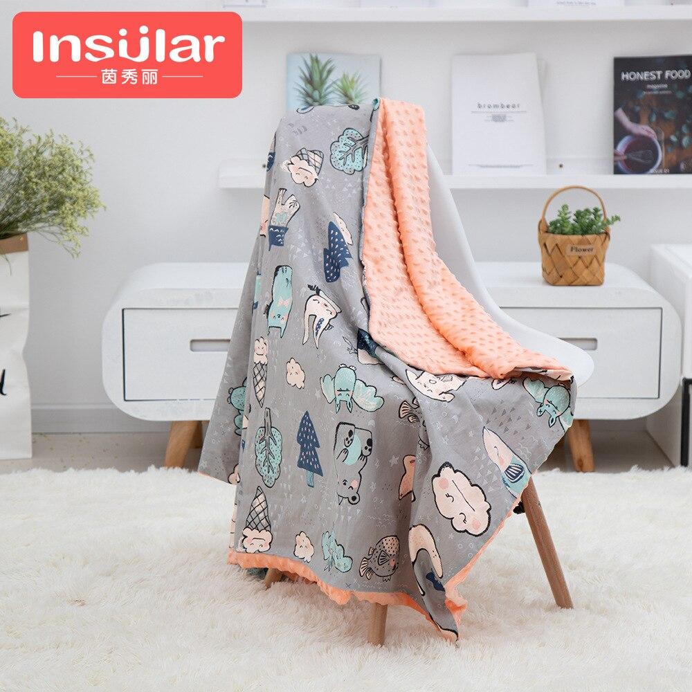 Insular Cotton Cartoon Infant Blanket Baby Pacify Peas Blanket BABY'S BLANKET Blankets-Washing Trolley Blanket