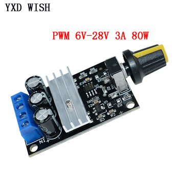 NE555 80W PWM Motor Speed Controller Regulator Adjustable Variable Control With Potentiometer Switch DC 6V 12V 24V 28V 3A - discount item  32% OFF Electrical Equipment & Supplies