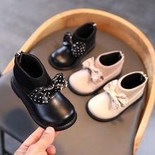 Осенне зимняя детская обувь модные ботинки для девочек детские