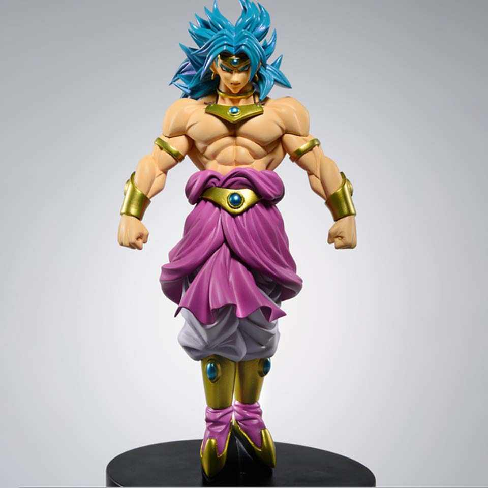 Broly Super Saiyan Dragon Ball Z Brolly Standing Versão PVC Action Figure Collectible Modelo DBZ Goku Combate 22cm