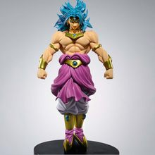 Broly Super Saiyan Dragon Ball Z Brolly Standing Versão PVC Action Figure Collectible Modelo DBZ Goku Combate 22cm(China)