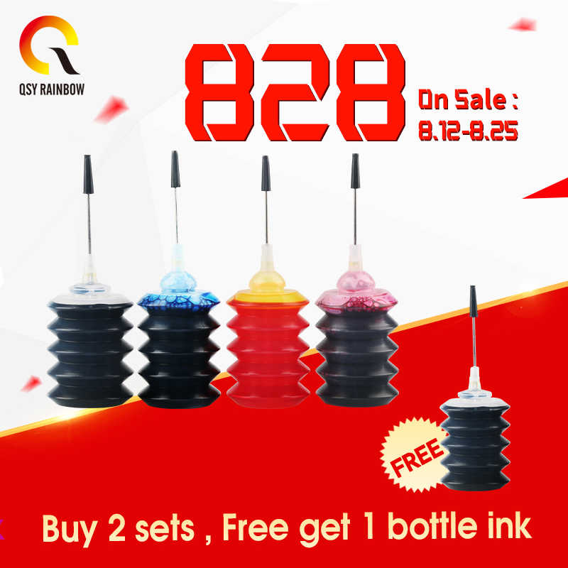 CMYK Perlengkapan 4X30 Ml Refill Tinta Dye Kit Untuk Epson Canon HP Saudara Lexmark Dell Kodak Printer Inkjet CISS Cartridge Printer