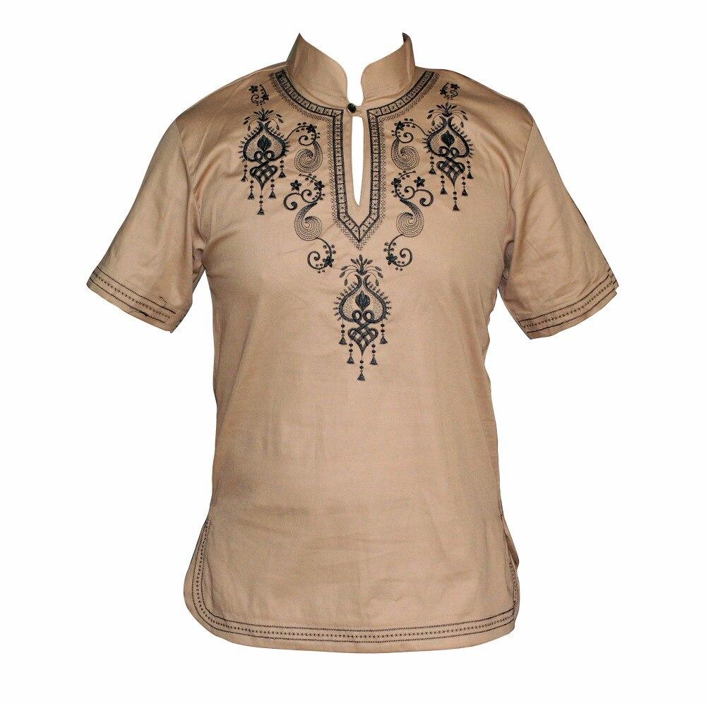 Embroidered African Men Hippie Vintage Top Tribal Blouse Dashiki Nigerian Native Ankara T-shirt мусульманская рубашка для мужчин