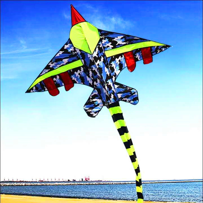 Free Shipping Large Plane Kite Children Kites Fly Camouflage Fighter Kite Factory Outdoor Toys For Kids Weifang New Wholesale