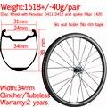 Супер свет нет ободная лента ширина 34 мм углеродный дорожный велосипед гравий дисковые колеса бескамерная клинчерная покрышка 38 мм столб ...