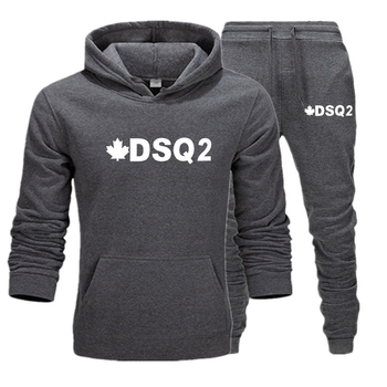 Bluza z kapturem marki DSQ2 D2 bluza męska damska dres + bluza z kapturem bluza hiphopowa z kapturem 2020 zimowa bluza z kapturem tanie i dobre opinie CN (pochodzenie) CASUAL COTTON Na co dzień Wiosna i jesień Z okrągłym kołnierzykiem