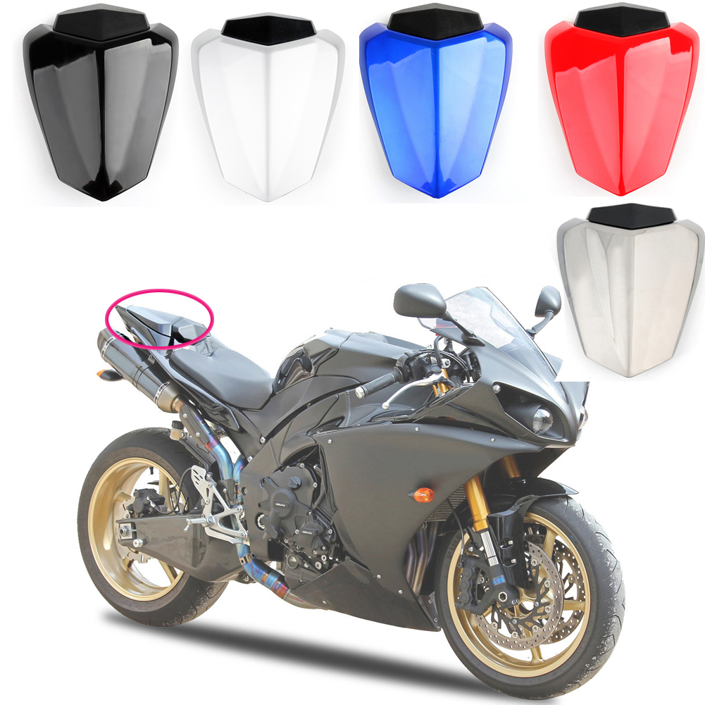 5 Style Motorcycle Pillion Rear Seat Cover Cowl ABS for Yamaha YZF-R1 2015-2016
