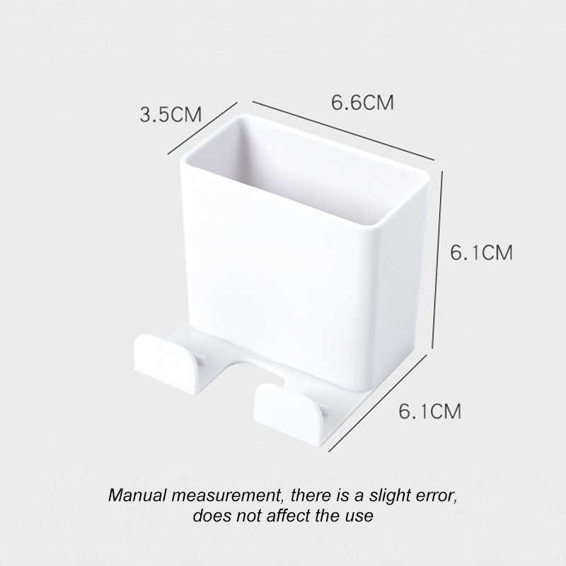 1PC 電話壁ホルダーウォールマウント収納ラック多機能リモコンホルダースマートフォンぶら下げ携帯電話タブレット充電