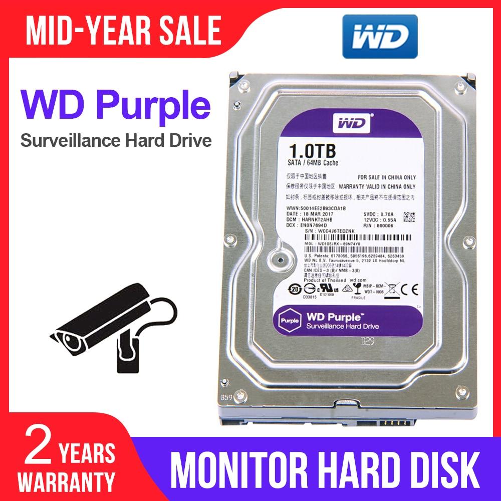 """WD fioletowy 1TB 3.5 """"dysk twardy nadzoru dla systemu bezpieczeństwa WD10EJRX HDD SATAIII DVR CCTV PC HDD wewnętrzne dyski twarde w Wewnętrzne dyski twarde od Komputer i biuro na AliExpress - 11.11_Double 11Singles' Day 1"""