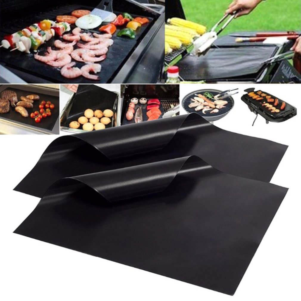 Non Stick Bbq Grill Mat Kitchen Accessories 40 * 33cm Grill Mat Tools Baking Mat Grilling Sheet Kitchen Gadgets