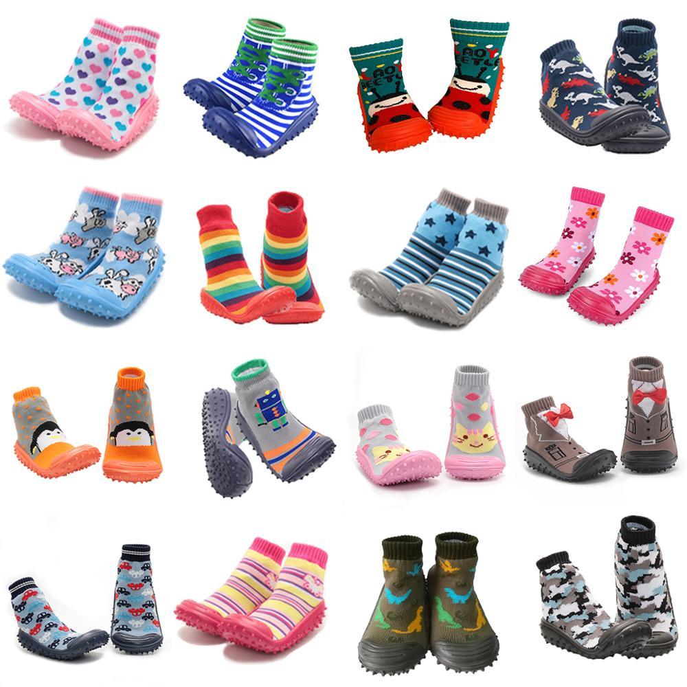 Newborn Baby Boy Shoes Socks Baby Girl Anti-slip Sock Shoes Baby Soft Rubber Sole Baby Floor Socks Shoes