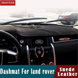 Para land rover discovery3 lr4 evoque range rover sport velar freelander 2 couro camurça dashmat painel cobre almofada traço esteira