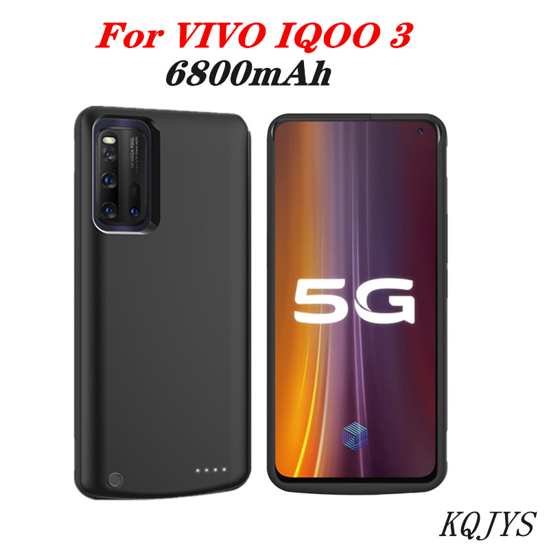 6800Mah Portable Mobile Backup Battery Charger Case For VIVO IQOO 3 5G External Power Back Battery Charging Case