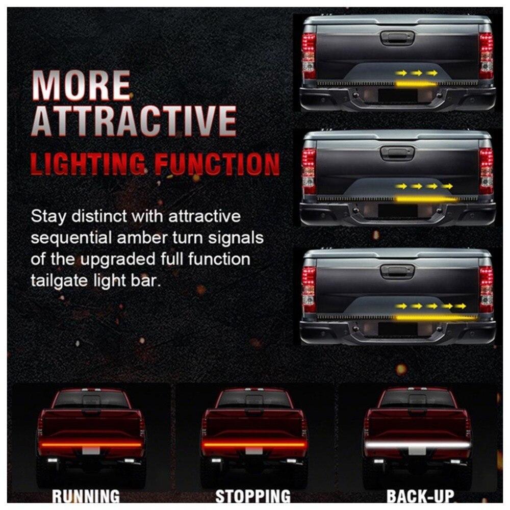 60 Inch Truck Tailgate LED Light 3528 LED Strip Bar Brake Reverse Turn Signal Stop Waterproof Tail Strip Lamparas 40NOV19 (6)