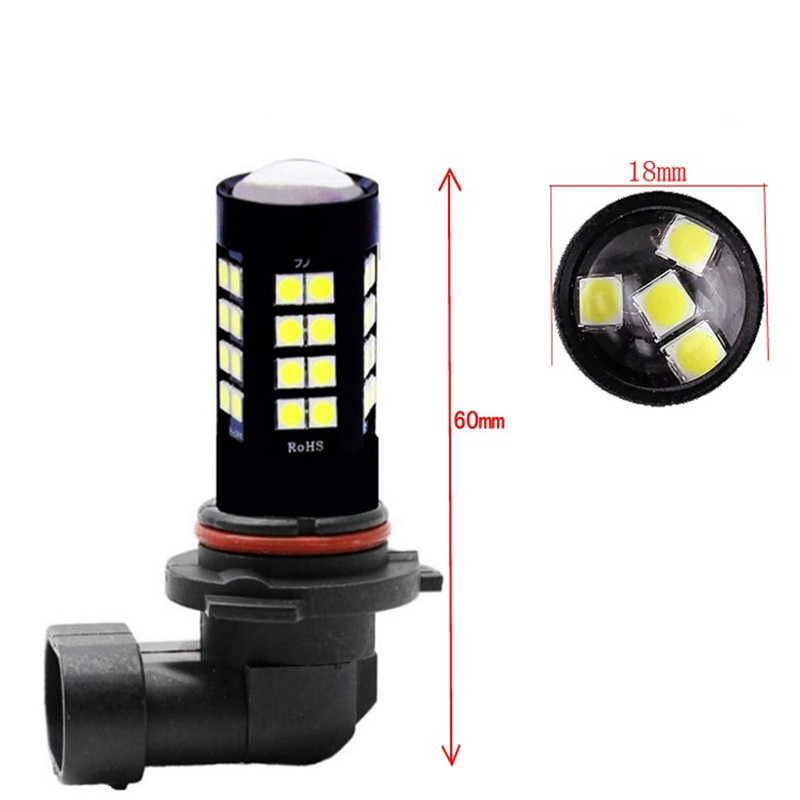 2Pcs HB3 HB4 <font><b>H10</b></font> Front Lampe Rot Weiß Gelb 3030 44SMD 9005 9006 Auto Nebel Licht Fahren Tagfahrlicht lampe Auto 12V DRL image