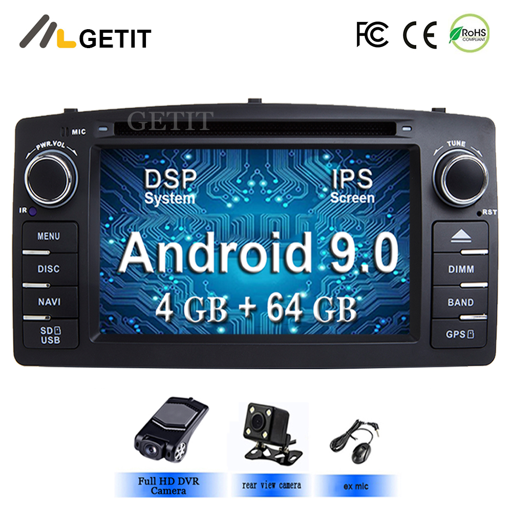 DSP Chip IPS Screen Android 9 0 Car DVD Multimedia Player for Toyota Corolla E120 BYD