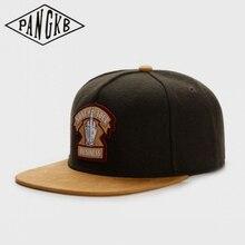 Snapback Hat Sun-Baseball-Cap PANGKB Brand Woolen Winter Casual Women Cloth Adult