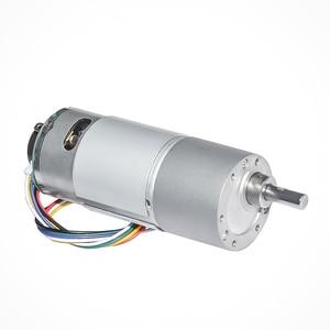 Мотор-редуктор постоянного тока с датчиком холла, 12 В, 24 В, 10 ~ 900 об/мин, опционально, диаметр 37 мм, выходной вал 6 мм для робота-двигателя «сдел...