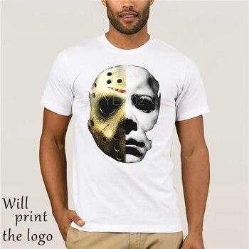 Horrorable di Film di Halloween Michael Myers Maschera di T Shirt Il 13th Jason Mike Viso T Camicia Intero