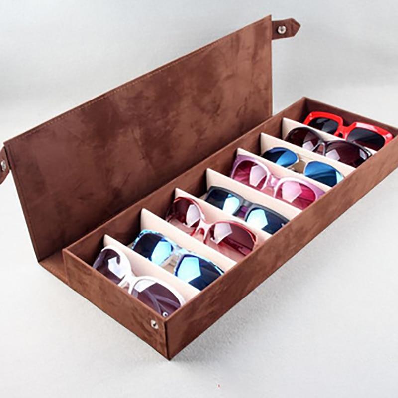 High Quality Glasses Case 8 Slot Grid Glasses Sunglasses Glasses Display Rack Holder Glasses Organizer Rectangle Sunglasses Box
