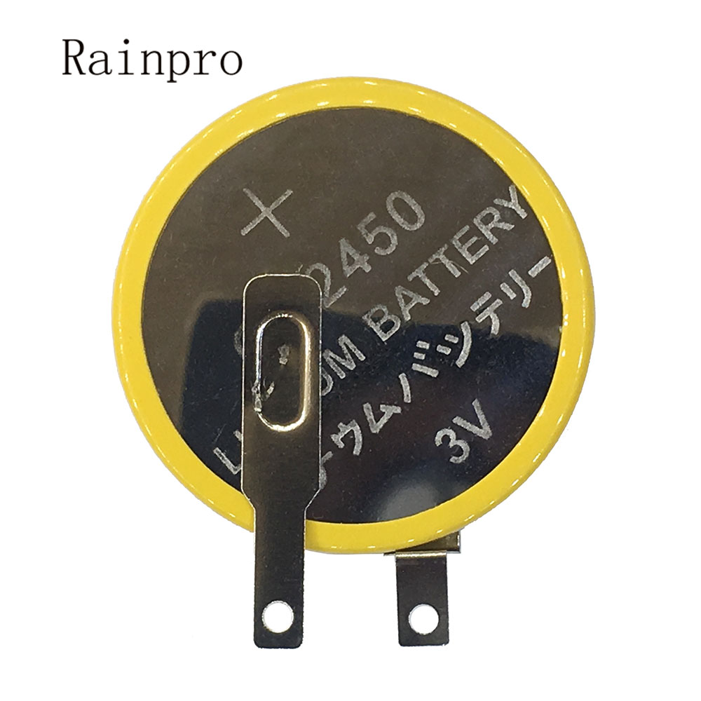 Rainpro 2 teile/los <font><b>CR2450</b></font> 2450 Button Lithium batterie 3V mit <font><b>weldding</b></font> pins für Motherboard/Reiskocher image