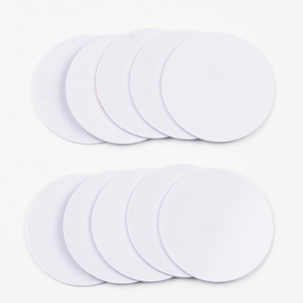 10pcs/lot 25mm 13.56Mhz NFC Coin Cards Tags Ntag213 Chip PVC Waterproof For All NFC Phones