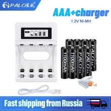 Bateria recarregável 1.2 mah da bateria 1100 v ni-mh aaa de palo pilhas 3a bateria com suporte da bateria aaa/aa