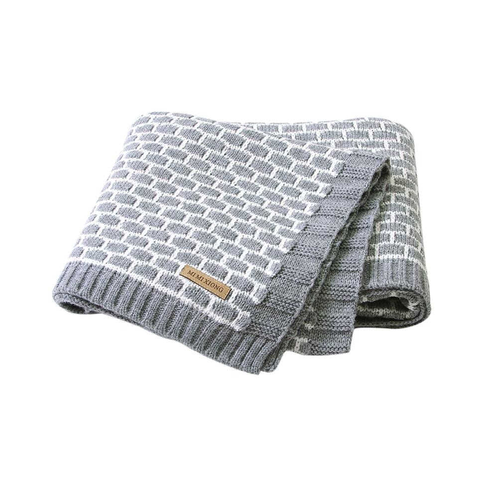 Baby Blanket Knitted Super Soft Newborn Infant Swaddle Wrap Casual Plaid Toddler Kids Stroller Sofa Basket Sleeping Cover 100*80