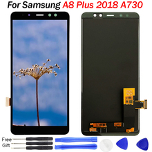LCD For Samsung Galaxy A8 Plus 2018 LCD Display Touch Screen Digitizer A730 A730F A730F/DS A730X For Samsung A8+ Plus 2018 LCD full cover tempered glass for samsung galaxy a8 2018 a730 a730f a730f ds duos plus a8 plus screen protective black display case