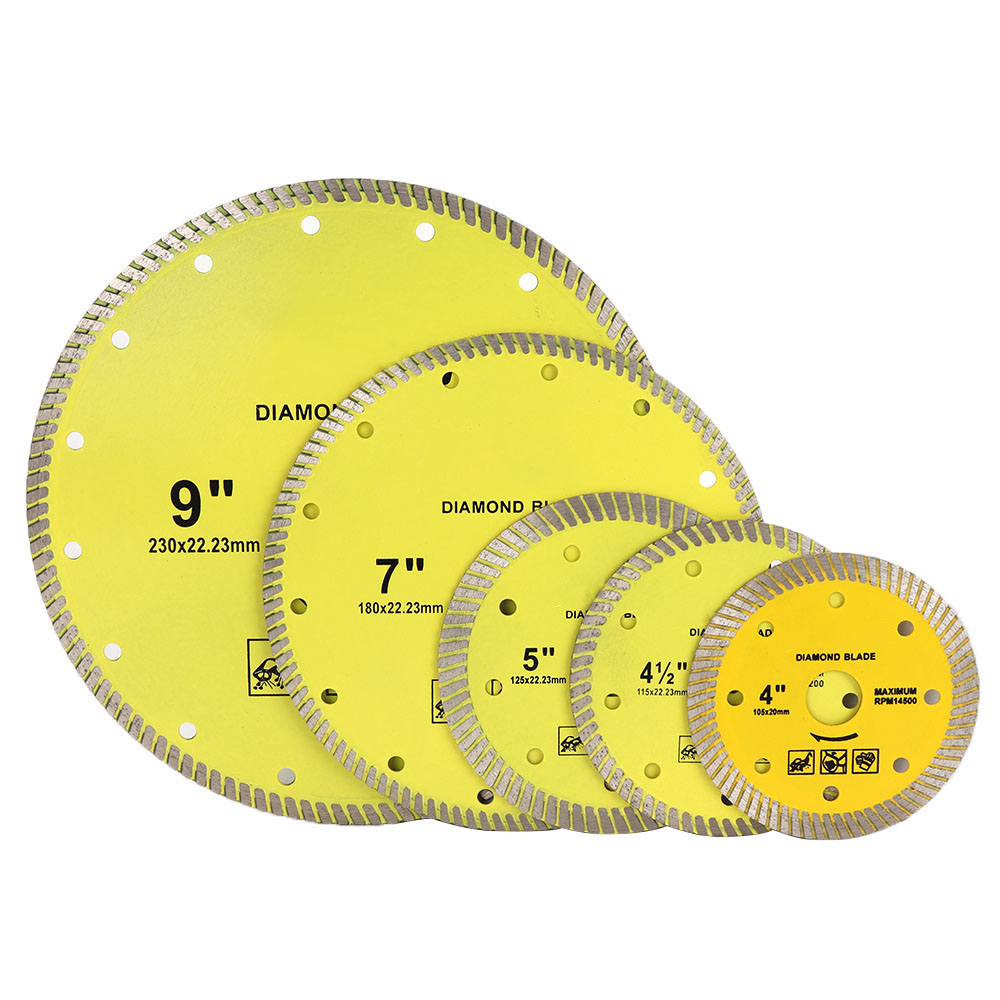 4-9'' Super Thin Diamond Turbo Saw Blade Cold Pressed Wet & Dry Porcelain Tile Cutting Disc For Marble Granite