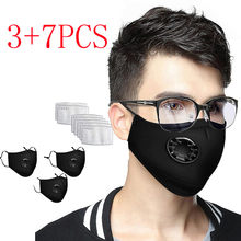 Black Face Mask Mouth Mask Unisex Cotton Anime Mask For Cycling Camp Scarf Mascarilla Mascarar Faceshield Maska Face Маски(China)