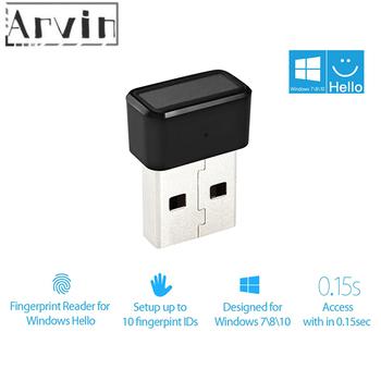 Czytnik linii papilarnych USB rozpoznawanie urządzenia dla Windows 10 hello biometryczny interfejs zabezpieczenia klucza USB tanie i dobre opinie Arvin NONE CN (pochodzenie) AI100