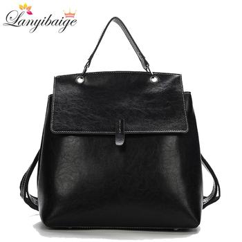 New Women Leather Backpack Multifunction Shoulder Bags for 2020 Back Pack School Teenage Girls Mochila Feminina - discount item  41% OFF Women's Handbags