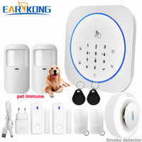GSM Alarm System Safe RFID APP Touch Keyboard 433MHz Door Open & Closed Sensor Alarm Infrared PIR animal immune motion detector