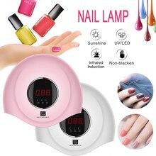 Secador de uñas lámpara UV LED de 36W para curado de todo tipo de geles, esmalte para manicura y salón de manicura