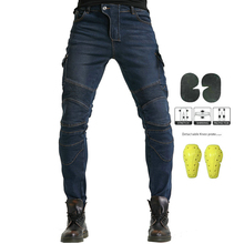 Pantalones vaqueros para motocicleta para hombre, pantalón de protección para Moto, para verano
