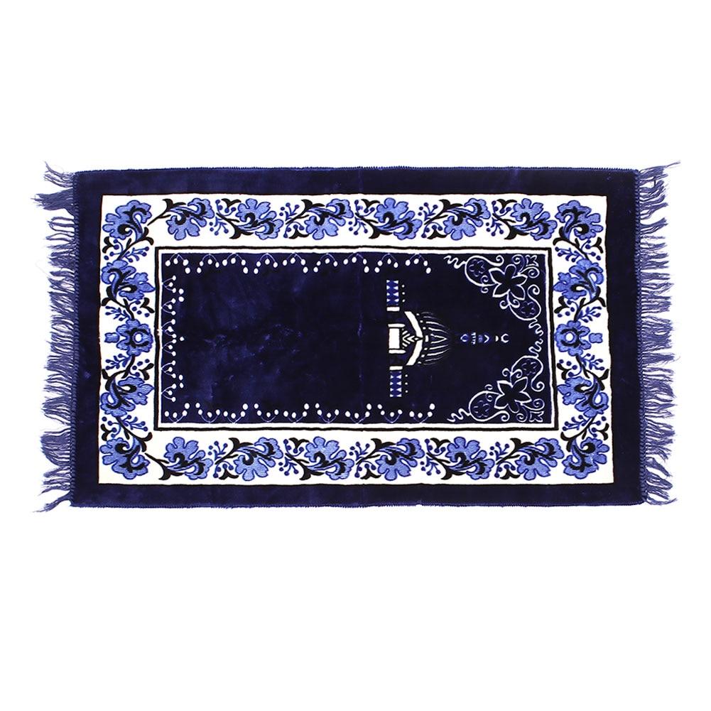Muslim Prayer Rugs Velvet Fabric Classic Salat Islamic Moroccan Printed