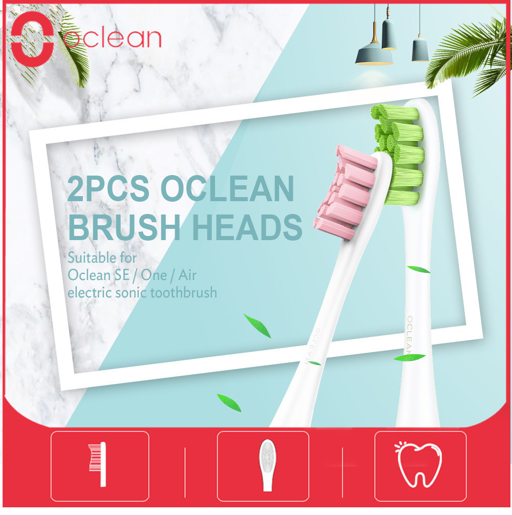 Original 2Pcs Original Oclean SE/One/Air Electric Sonic Toothbrush Head Replacement Brush Heads Deep Cleaning Tooth Brush Heads