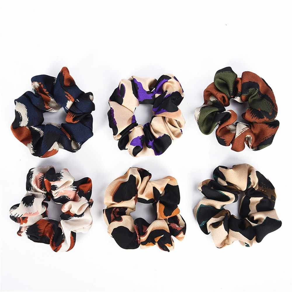 leopard flower headband Women Elastic Hair Rope Ring Ponytail Holder printed fashion Hair acessories 2019 резинки для волос