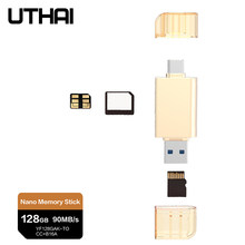 UTHAI D39 For HUAWEI NM Card Reader Type C to Micro SD/USB3