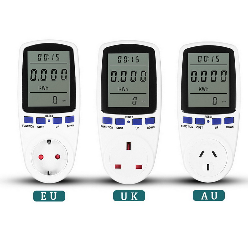 EU UK AU Plug AC  Meter Wattmeter Digital Voltage Consumption Watt Power Meter Electricity  Monitor