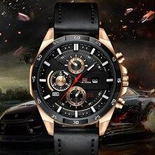 Новое поступление 2021, мужские спортивные кварцевые часы, мужские повседневные часы, мужские часы для военных, армейские наручные часы с кож...