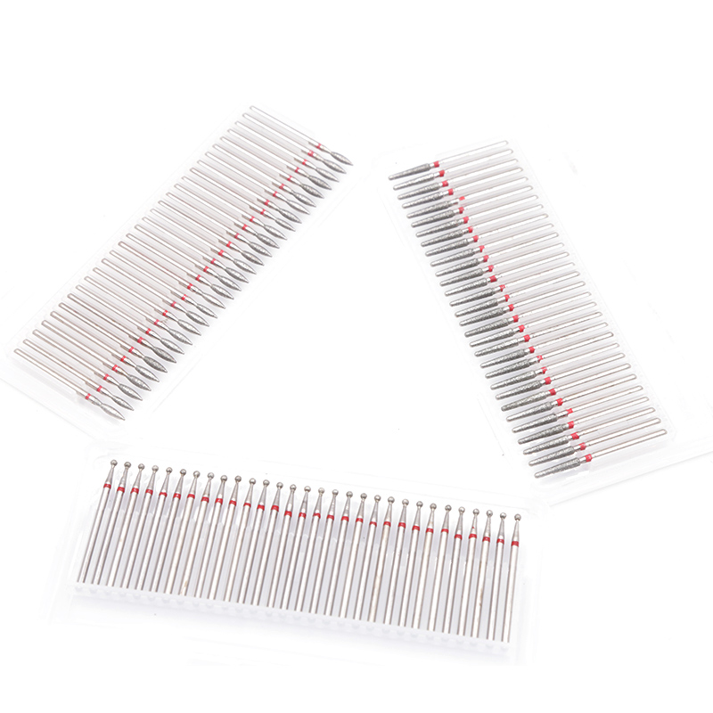 30PCS Diamond Cutter For Manicure Set Diamond Rotary Burrs Set Nail Drill Bit Set Pedicure Milling Cutter For Nail Art Tool