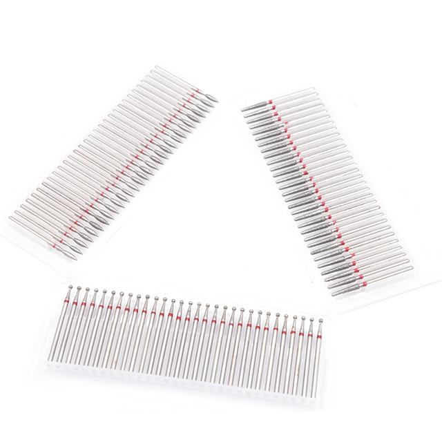 30PCS Diamond Cutter for Manicure Set Diamond Rotary Burrs Set Nail Drill Bit Set Pedicure Milling Cutter for Nail Art Tool