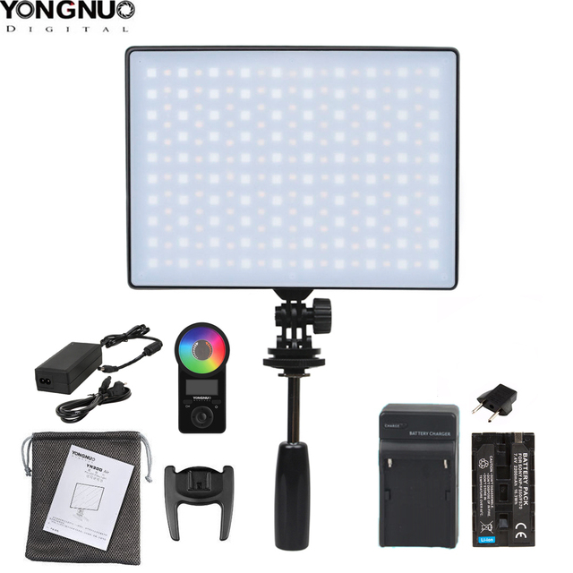 YONGNUO YN300Air II YN 300 Air Pro RGB LED Camera Video Light,Optional with Battery Charger kit Photography Light +AC adapter