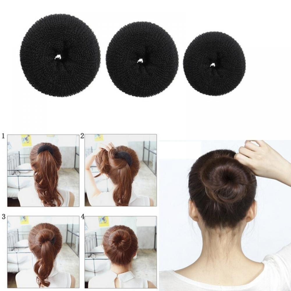 Plate Hair Donut Hair Bun Maker Roller DIY Magic Elastic Foam Sponge Hair Styling Tools Princess Hair Accessories Updo