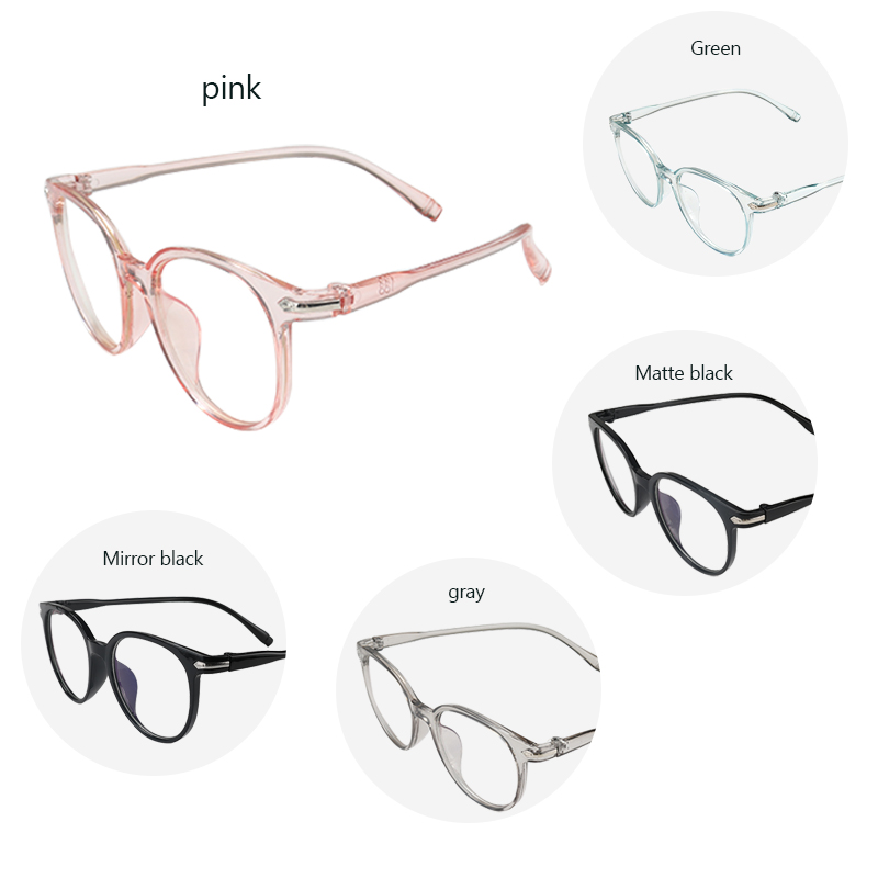 New Round Women Glasses Anti-radiation Eye Glasses Frame Transparent Retro Vintage Glasses Frame Women Eyewear Frame
