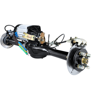 DC60V72V3000W disc brake brushless hub motor kit, electric tricycle rear axle assembly, load-bearing wheels, size optional